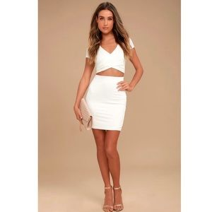 Lulu's By Your Side Ivory Two-Piece Dress